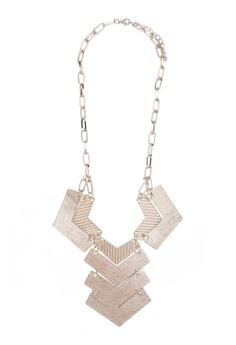 Rustic Look Multi Plated Necklace