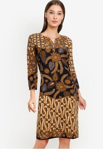 Rianty Batik brown Dress Desita 9023FAAC918638GS_1