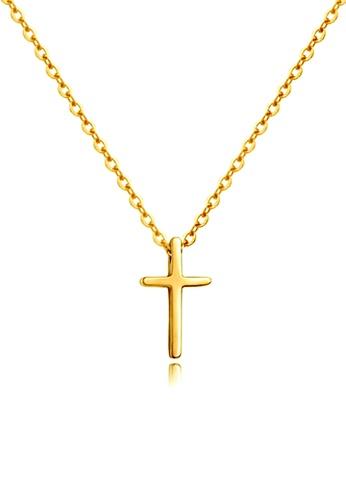 CELOVIS gold CELOVIS - Krissy Cross Pendant Necklace in Gold EC47EACC8E9D29GS_1