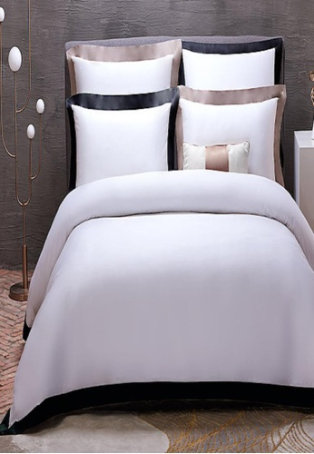 MOCOF black and white Oxford Black Bed Sheet Set (7in1) 100% Egyptian Cotton 1600TC 7C89BHL23118CAGS_1