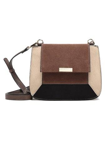 LULUGIFT brown Lulugift Retro Fashion PU Leather Brown Sling Bag LU989AC26SIFMY_1