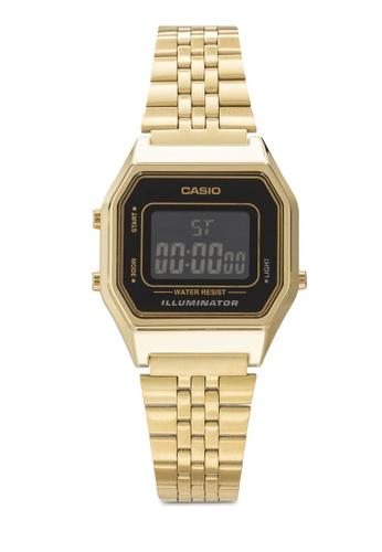 Casio 金色 Casio Women's Gold Tone Metal Strap Watch LA-680WGA-1BDF CA843AC35YQMMY_1