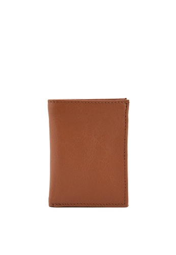 The Tannery Manila brown Sammy Leather Milled Bifold Men's Wallet 0F116AC5985E19GS_1