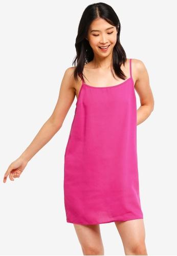 ZALORA BASICS pink Basic Strappy Mini Dress E5F88AA5237BF9GS_1