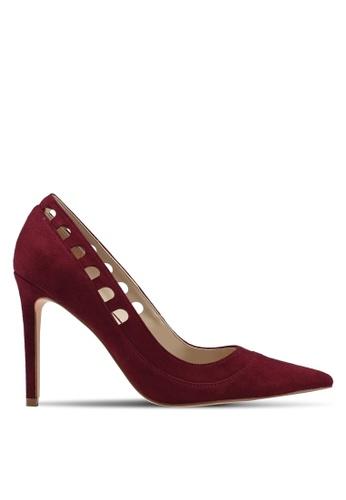 ZALORA 紅色 Cut Out Heels 28384SH8BB34D4GS_1