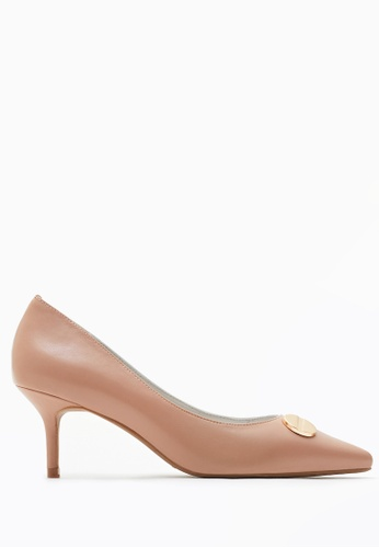 PAZZION brown Duo-toned Classy Heels B0A8BSHF6F439CGS_1