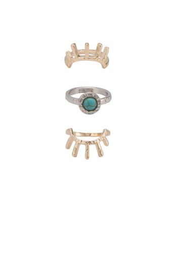 Jennesprit童裝門市a 三入眼睛造型戒指組, 飾品配件, 戒指