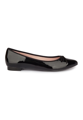 MAUD FRIZON black Kid Leather Point Toe Flat D24FBSHD9305A1GS_1