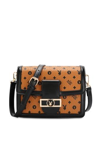 PLAYBOY BUNNY brown Women's Sling Bag / Shoulder Bag / Crossbody Bag FDDFEACAB4E286GS_1