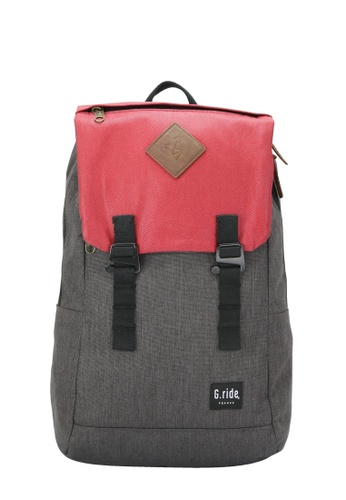 G.ride grey and red Albert Backpack A5632AC4EEEF7EGS_1
