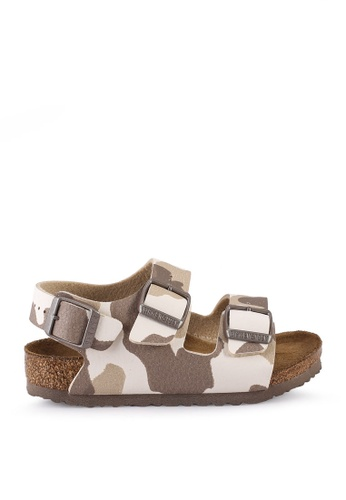 Birkenstock beige Milano Kids BF Desert Soil Sandals F715EKSAD8D383GS_1