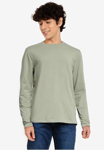 OVS green Plain Sweatshirt 82E93AA935CCADGS_1