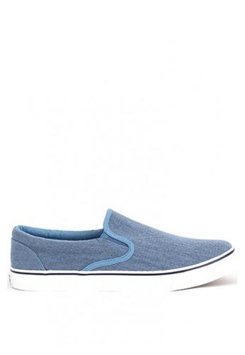 World Balance blue Serge MS Slip On 548DFSH47B220FGS_1