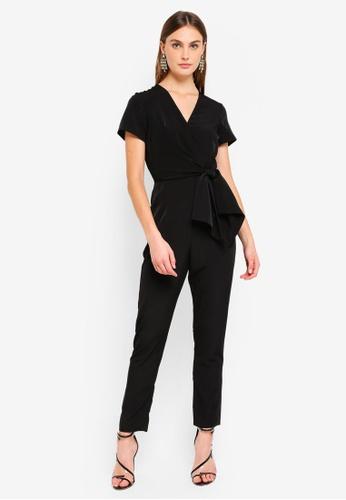 Dorothy Perkins black Black Wrap Front Jumpsuit DE0B1AA1ADAD05GS_1