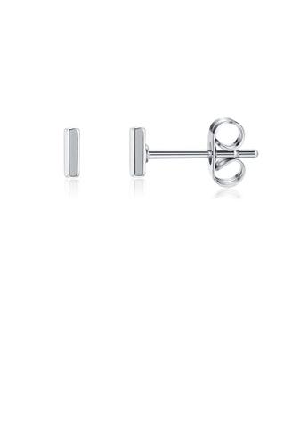 Glamorousky silver Fashion Simple Letter I Stud Earrings BFDAFACB094789GS_1