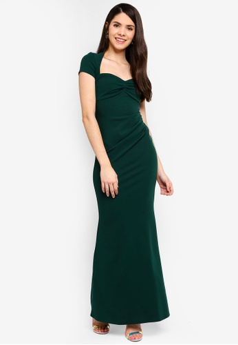 Goddiva green Sweetheart Neck Maxi Dress A1ACBAA02F7760GS_1