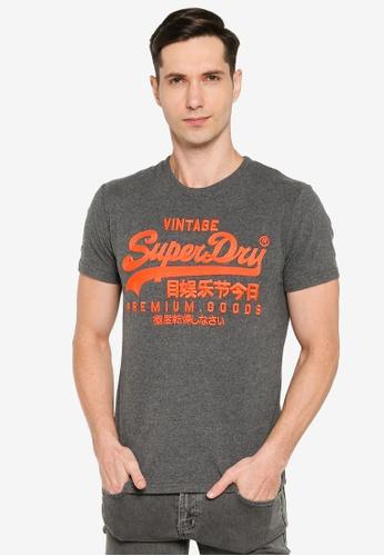 SUPERDRY 灰色 Vintage Logo Off Piste T-Shirt - Original & Vintage 09DB1AA091F608GS_1