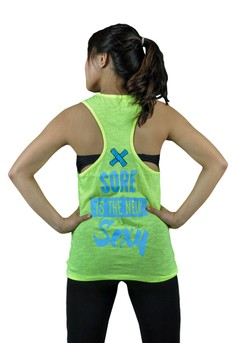 FEF Clothing Women's Active Sexy Yellow Tank Top