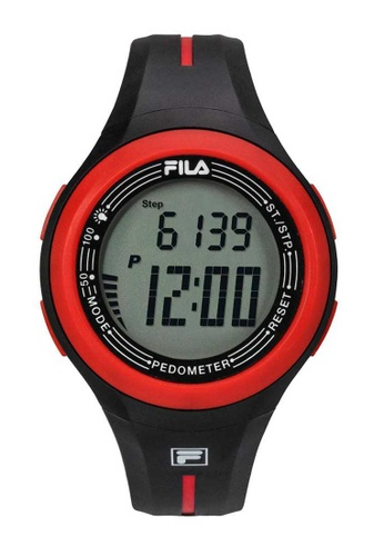 FILA Watches red Fila Digital Red and Black Rubber Watch B268DAC3AE6BC3GS_1