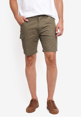 SPARROW GREEN green Clive Cargo Shorts 57167AA68FA365GS_1