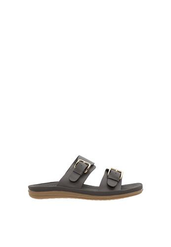 SEMBONIA grey Women Synthetic Leather Flat Sandal 61961SHBA900D3GS_1