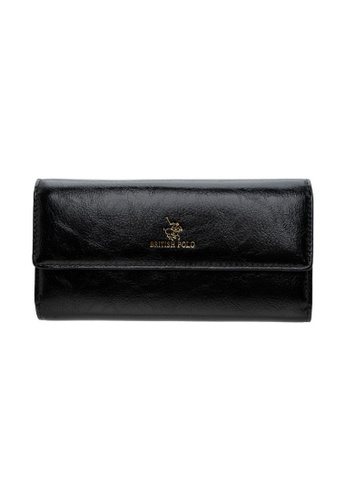 British Polo black British Polo Shine Flap Wallet 6A90CACEEC9E17GS_1