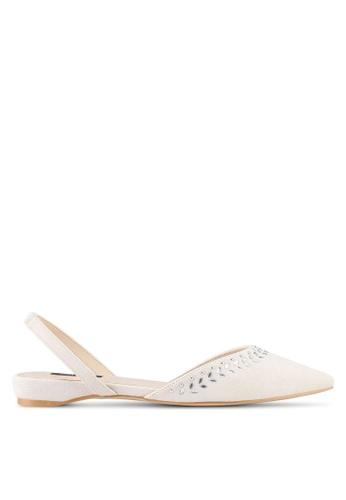 ZALORA beige Embellished Flats 932BFSH42643D4GS_1