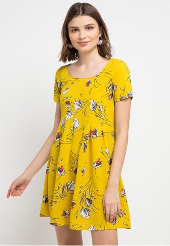 Chanira yellow and multi Savannah Dress E693BAA1DDD281GS_1