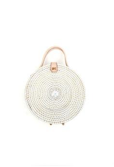 c4624fcad2ce ... Handmade Ribbon Leather Sandals Slip Ons - White S  159.00. Sizes 39 · ASHLEY  SUMMER CO white Round Basket Handbag (White) 4E990AC5353D93GS 1