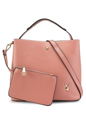 PLAYBOY BUNNY pink Ladies Handbag 40B8DACB640960GS_1
