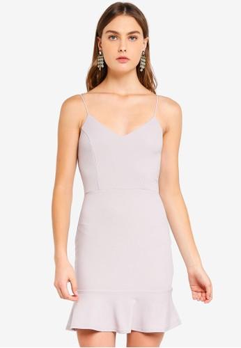 AX Paris silver Frill Hem Mini Dress 1ADB2AA16478D8GS_1
