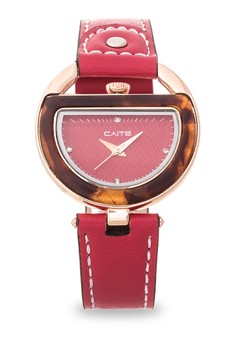 Leather Analog Watch M-261