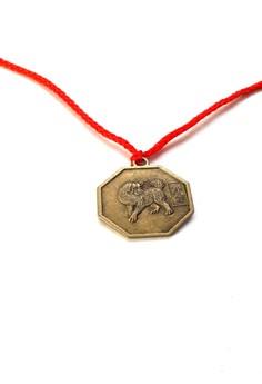 Feng Shui Brass Dog Pendant Animal Sign Necklace
