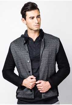 Biker Jacket in Knit Material
