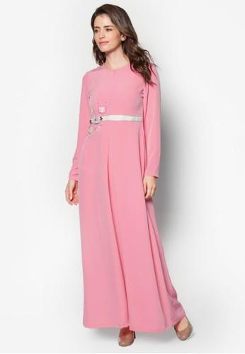 Safana 02 珠繡褶飾長洋裝,esprit hong kong 分店 服飾, 晚宴禮服
