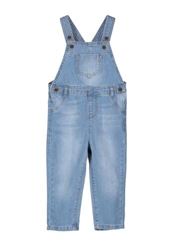 LC Waikiki blue Baby Boy Jean Overalls 90F6EKA09D0E7BGS_1