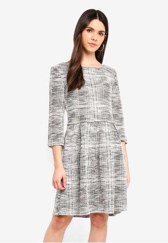 Max Studio black Knit Tweed Dress 8406EAAD076CC2GS_1