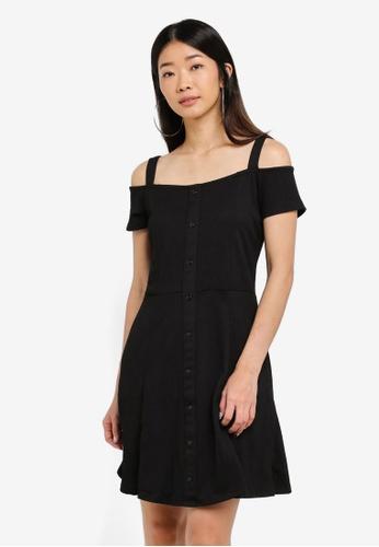 LC Waikiki 黑色 Black Cold Shoulder Dress 1DF14AA1D7D8D2GS_1