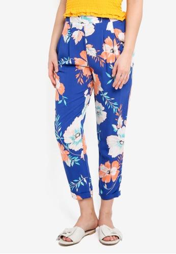 Cotton On blue and multi Kali Drapey Pants 15315AA560E98CGS_1