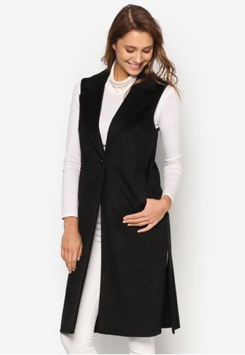 單鈕翻領長版無袖外套、 服飾、 外套DorothyPerkins單鈕翻領長版無袖外套最新折價