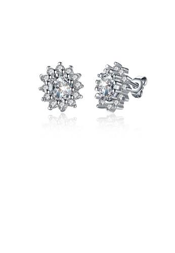 Glamorousky white Sparkling Bright Luxury Elegant Noble Fashion Flower Cubic Zircon Earrings 113F8AC0411C58GS_1