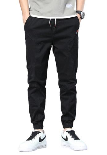 Trendyshop 黑色 休閒束腳褲 AE079AA1477D2BGS_1