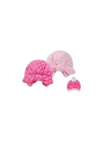 Little Kooma pink Hudson Baby 2Pc Turban Cap Hat Set 00552CH Pink Paisley 07DECKCACF12CEGS_1