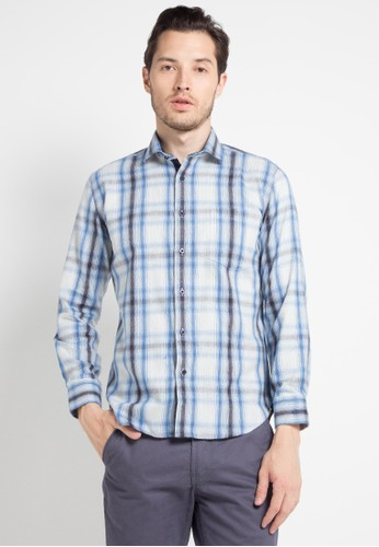 EDITION blue Blue Lines Flannel 41C04AA75D731AGS_1