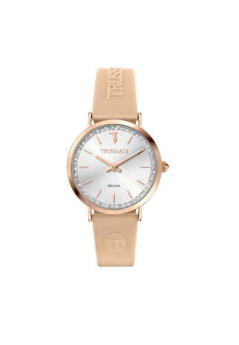 Trussardi Trussardi T-Motifl Beige Silicon Strap Ladies' Watches R2451140502 81D45AC2F22990GS_1
