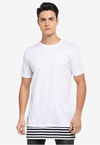 Factorie 多色 條紋拼接短袖T恤 1C0A6AA65DED31GS_1