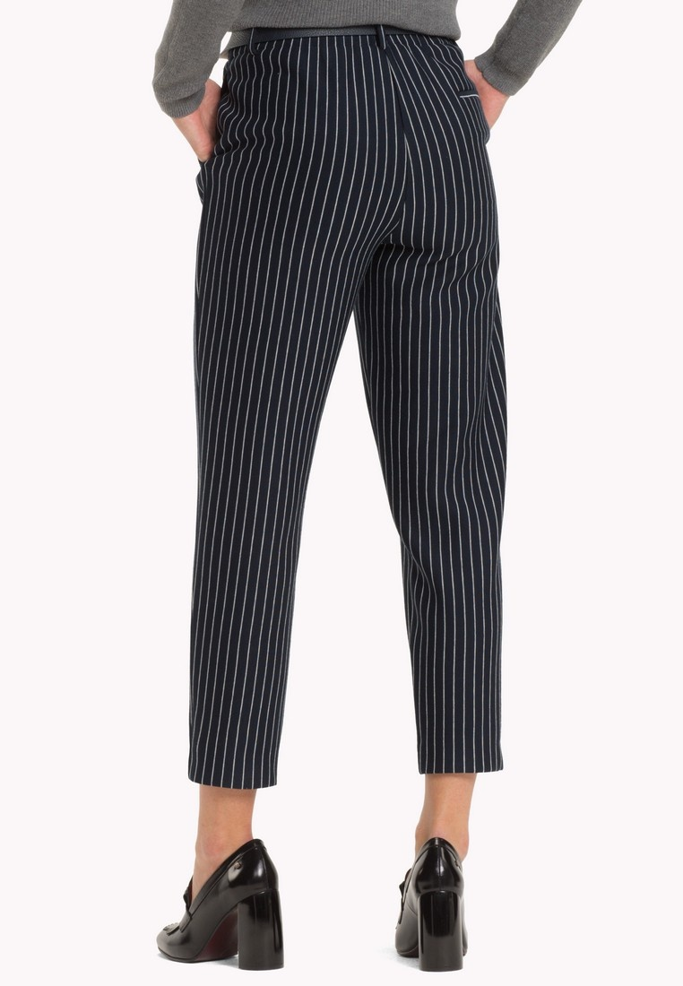 Pinstripe Hilfiger PULL PANT CROPPED Tommy Captain JANNALEE ON Sky Cw 4YxUnCn