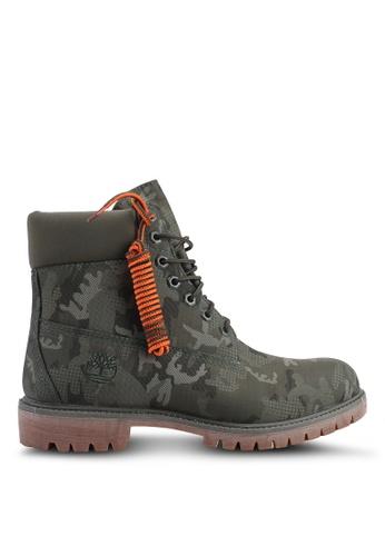 Timberland green 6 Inch Premium Fabric Boots 58492SHFA810ABGS_1