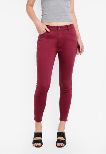 ZALORA red Garment Dyed Basic Skinny Jeans 43FAEZZ5816C4BGS_1