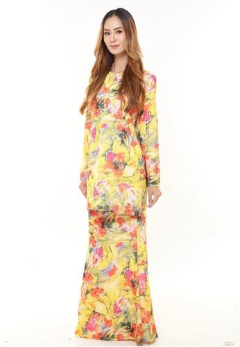 Rina Nichie Couture yellow Rina Printed Kurung Yellow Rainbow 9D4C4AAA5B9F7DGS_1